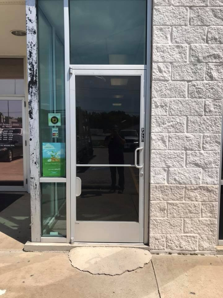 commercial glass door